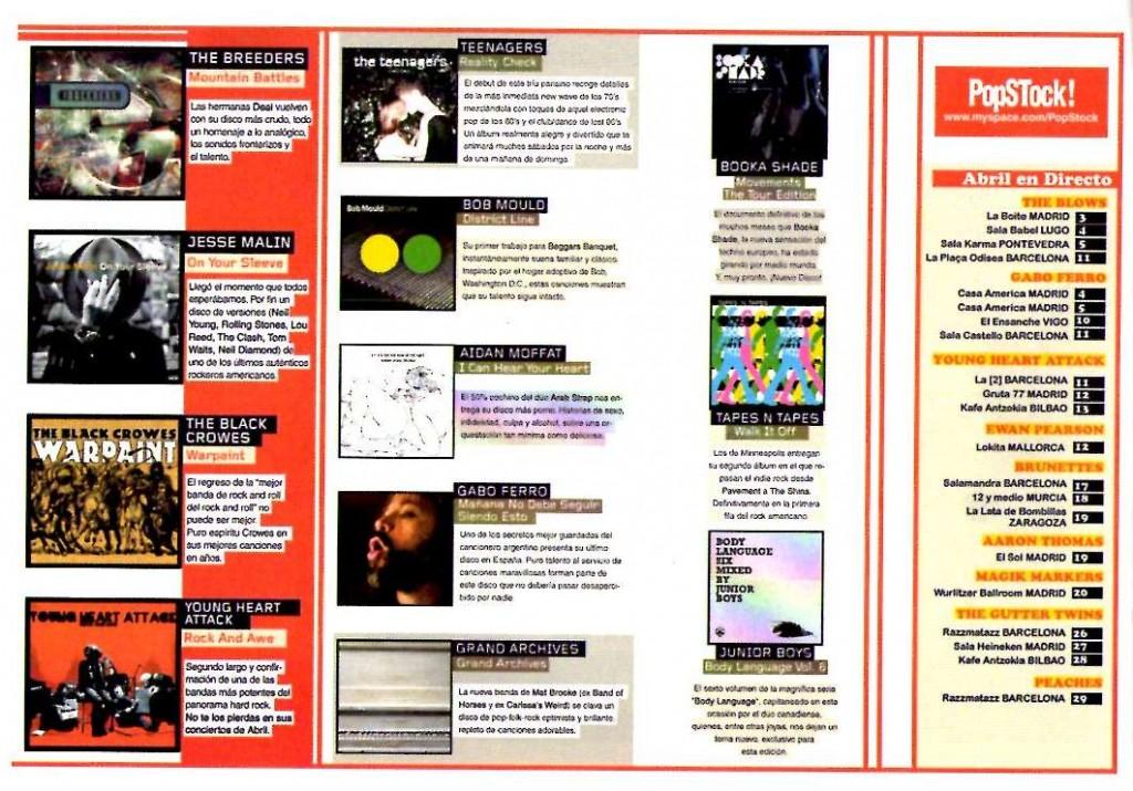abril 2008 edicion y gira España, revista Mondo sonoro