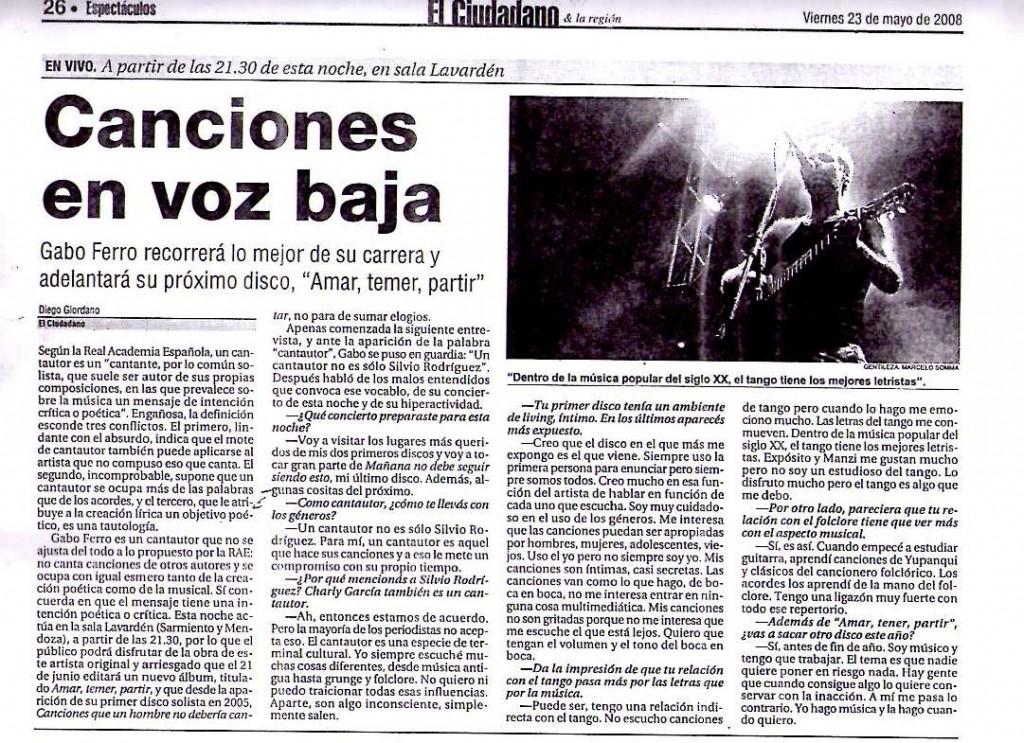 23 mayo 2008 El Ciudadano Rosario