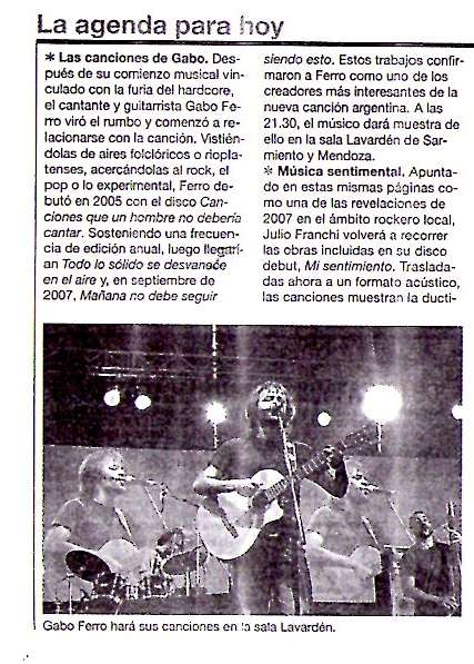 23 mayo 2008 Rosario 12 Rosario