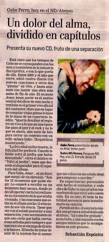17 julio 2008 La Nación Amar...