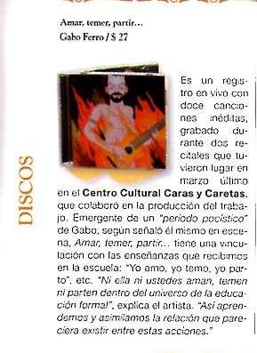 Julio 2008 Critica a Amar,... Caras y Caretas