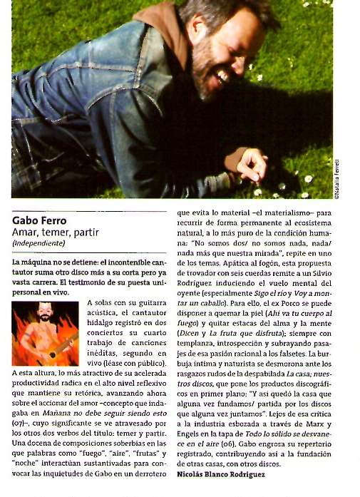 critica a Amar... Inrocks julio 2008