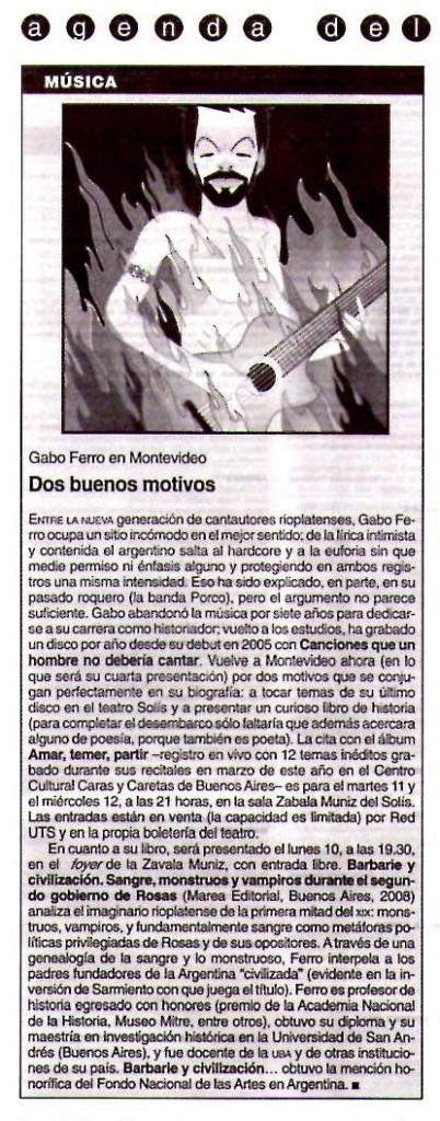 7 noviembre 2008 Brecha Montevideo