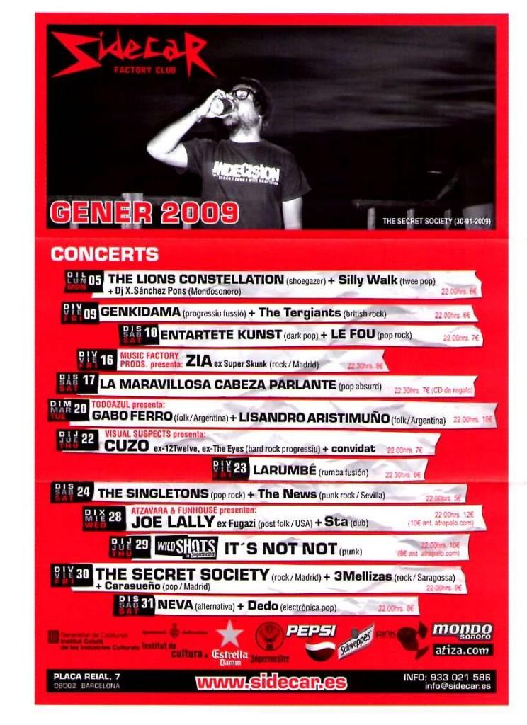 flyer barcelona enero 2009