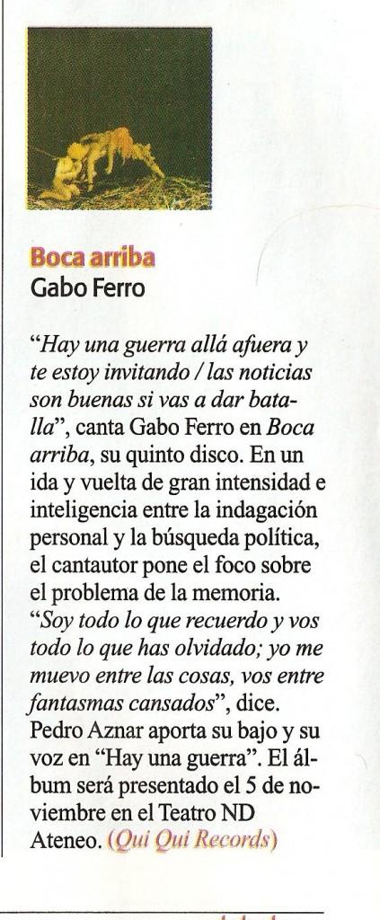 GABO - Boca arriba - Revista Debate 17 10 09