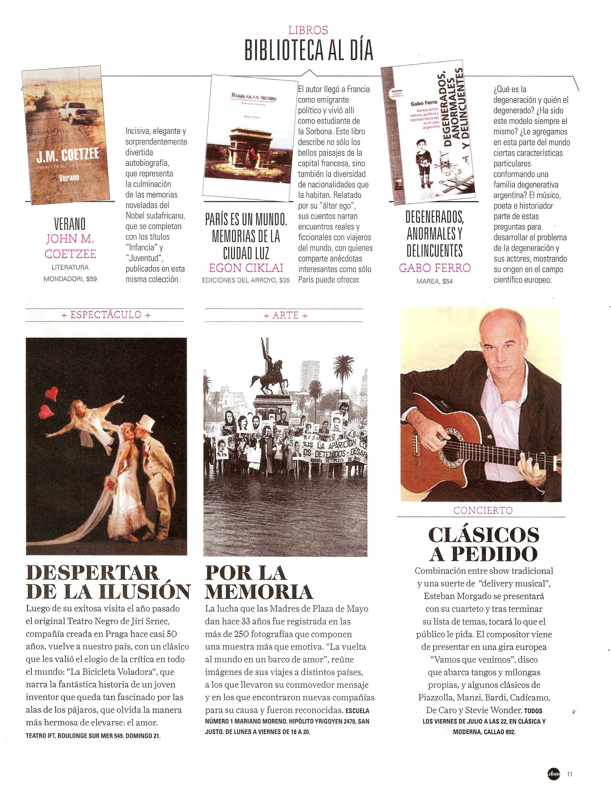 Degenerados anormales y delincuentes revista puntodom for Revistas del espectaculo argentino